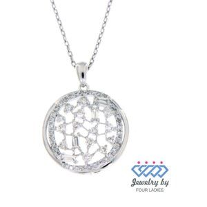 Solid Circle Diamond Designer Pendant